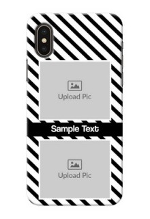 iPhone XS Back Covers: Black And White Stripes Design