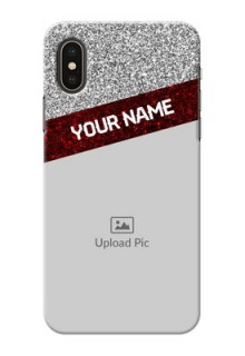 iPhone XS Mobile Cases: Image Holder with Glitter Strip Design