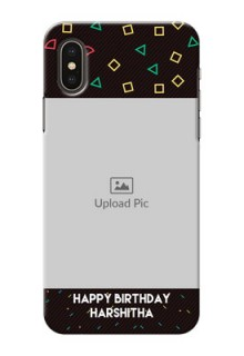 iPhone XS custom mobile cases with confetti birthday design