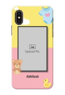 iPhone XS Back Covers: Kids 2 Color Design