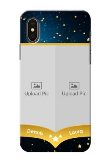 iPhone XS Mobile Covers Online: Galaxy Stars Backdrop Design