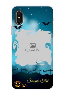 iPhone XS Personalised Phone Cases: Halloween frame design