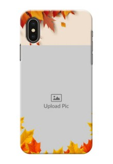 iPhone XS Mobile Phone Cases: Autumn Maple Leaves Design