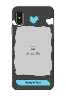 iPhone XS Mobile Back Covers: splashes with love doodles Design