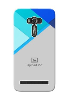 Asus ZenFone 2 Laser Phone Cases Online: Blue Abstract Cover Design