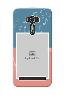Asus ZenFone 2 Laser Phone Back Covers with Color Musical Note Design