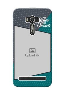 Asus ZenFone 2 Laser Back Covers: Background Pattern Design with Quote