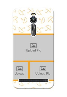 Asus ZenFone 2 ZE551ML Yellow Pattern Mobile Back Cover Design