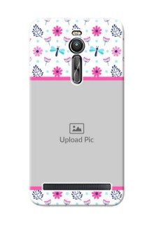 Asus ZenFone 2 ZE551ML Colourful Flowers Mobile Cover Design