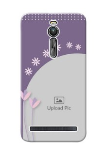 Asus ZenFone 2 ZE551ML lavender background with flower sprinkles Design Design