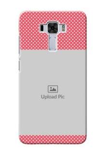 Asus Zenfone 3 Laser Custom Mobile Case with White Dotted Design
