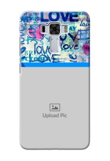 Asus Zenfone 3 Laser Mobile Covers Online: Colorful Love Design