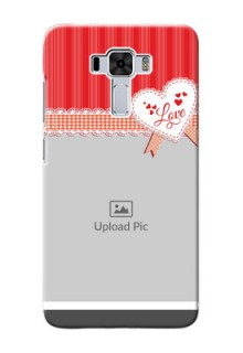 Asus Zenfone 3 Laser phone cases online: Red Love Pattern Design