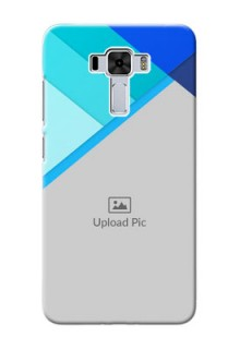 Asus Zenfone 3 Laser Phone Cases Online: Blue Abstract Cover Design