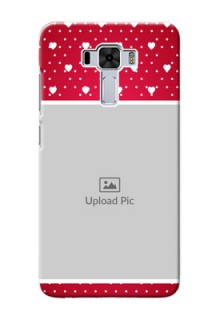 Asus Zenfone 3 Laser custom back covers: Hearts Mobile Case Design