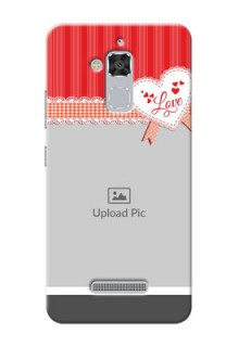 Asus Zenfone 3 Max ZC520TL Red Pattern Mobile Cover Design