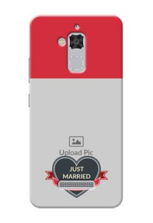 Asus Zenfone 3 Max ZC520TL Just Married Mobile Cover Design