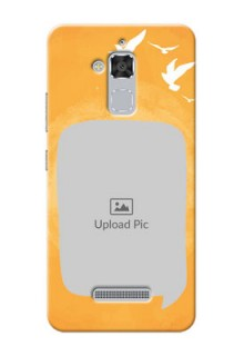 Asus Zenfone 3 Max ZC520TL watercolour design with bird icons and sample text Design Design