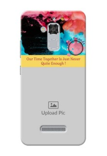 Asus Zenfone 3 Max ZC520TL best friends quote with acrylic painting design Design Design