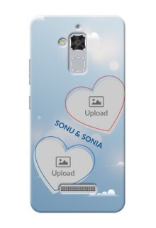 Asus Zenfone 3 Max ZC520TL couple heart frames with sky backdrop Design Design