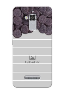 Asus Zenfone 3 Max ZC520TL oreo biscuit pattern with white stripes Design Design