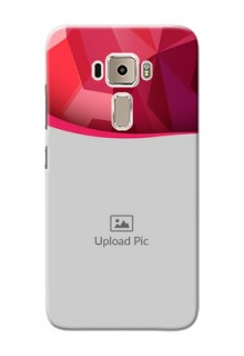 Asus Zenfone 3 ZE520KL Red Abstract Mobile Case Design