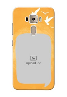 Asus Zenfone 3 ZE520KL watercolour design with bird icons and sample text Design Design