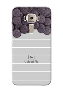 Asus Zenfone 3 ZE520KL oreo biscuit pattern with white stripes Design Design