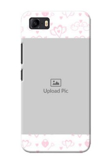 Asus Zenfone 3s Max personalized phone covers: Pink Flying Heart Design