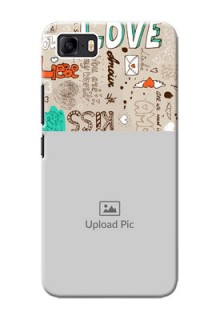 Asus Zenfone 3s Max Personalised mobile covers: Love Doodle Pattern