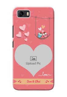 Asus Zenfone 3s Max custom phone covers: Peach Color Love Design