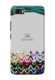 Asus Zenfone 3s Max personalized phone covers: Neon Abstract Design