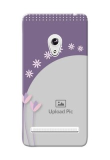 Asus ZenFone 5 lavender background with flower sprinkles Design Design