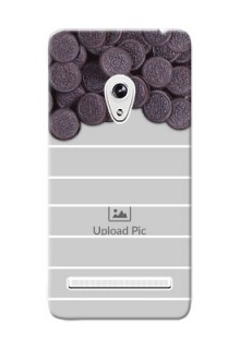 Asus ZenFone 5 oreo biscuit pattern with white stripes Design Design