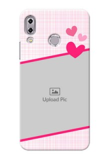 Asus Zenfone 5Z ZS620KL Pink With Pattern Mobile Cover Design