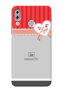 Asus Zenfone 5Z ZS620KL Red Pattern Mobile Cover Design