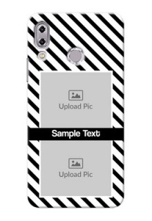 Asus Zenfone 5Z ZS620KL 2 image holder with black and white stripes Design