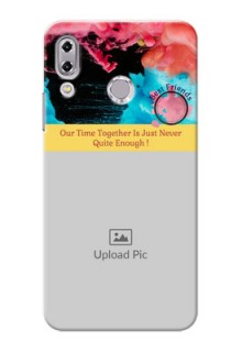 Asus Zenfone 5Z ZS620KL best friends quote with acrylic painting Design