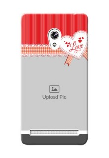 Asus ZenFone 6 Red Pattern Mobile Cover Design