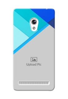 Asus ZenFone 6 Blue Abstract Mobile Cover Design
