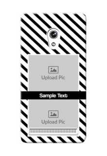 Asus ZenFone 6 2 image holder with black and white stripes Design