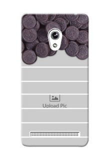 Asus ZenFone 6 oreo biscuit pattern with white stripes Design Design
