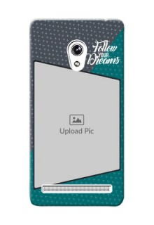 Asus ZenFone 6 2 colour background with different patterns and dreams quote Design