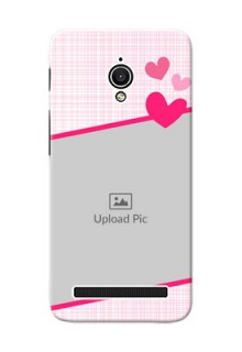 Asus ZenFone Go ZC500TG Pink Design With Pattern Mobile Cover Design