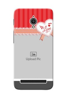 Asus ZenFone Go ZC500TG Red Pattern Mobile Cover Design