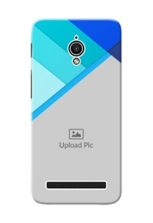 Asus ZenFone Go ZC500TG Blue Abstract Mobile Cover Design