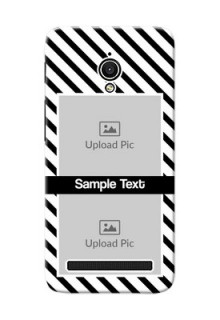 Asus ZenFone Go ZC500TG 2 image holder with black and white stripes Design