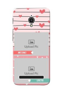 Asus ZenFone Go ZC500TG 2 image holder with hearts Design