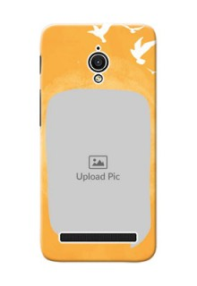 Asus ZenFone Go ZC500TG watercolour design with bird icons and sample text Design Design