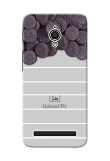 Asus ZenFone Go ZC500TG oreo biscuit pattern with white stripes Design Design